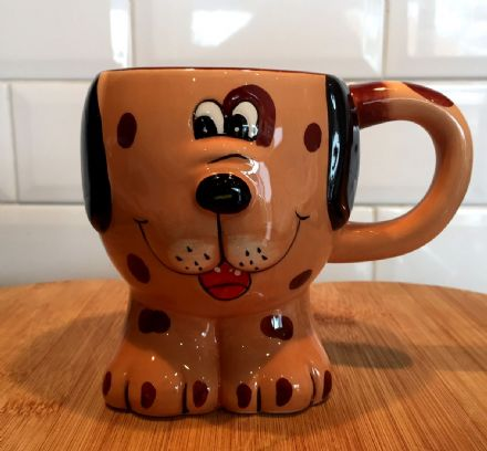 Fun Animal Shaped Children's Ceramic Mug ~ Spotty Dog